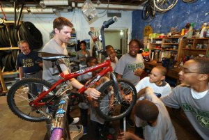 NBA Green Week - Revolutions Community Bike Shop